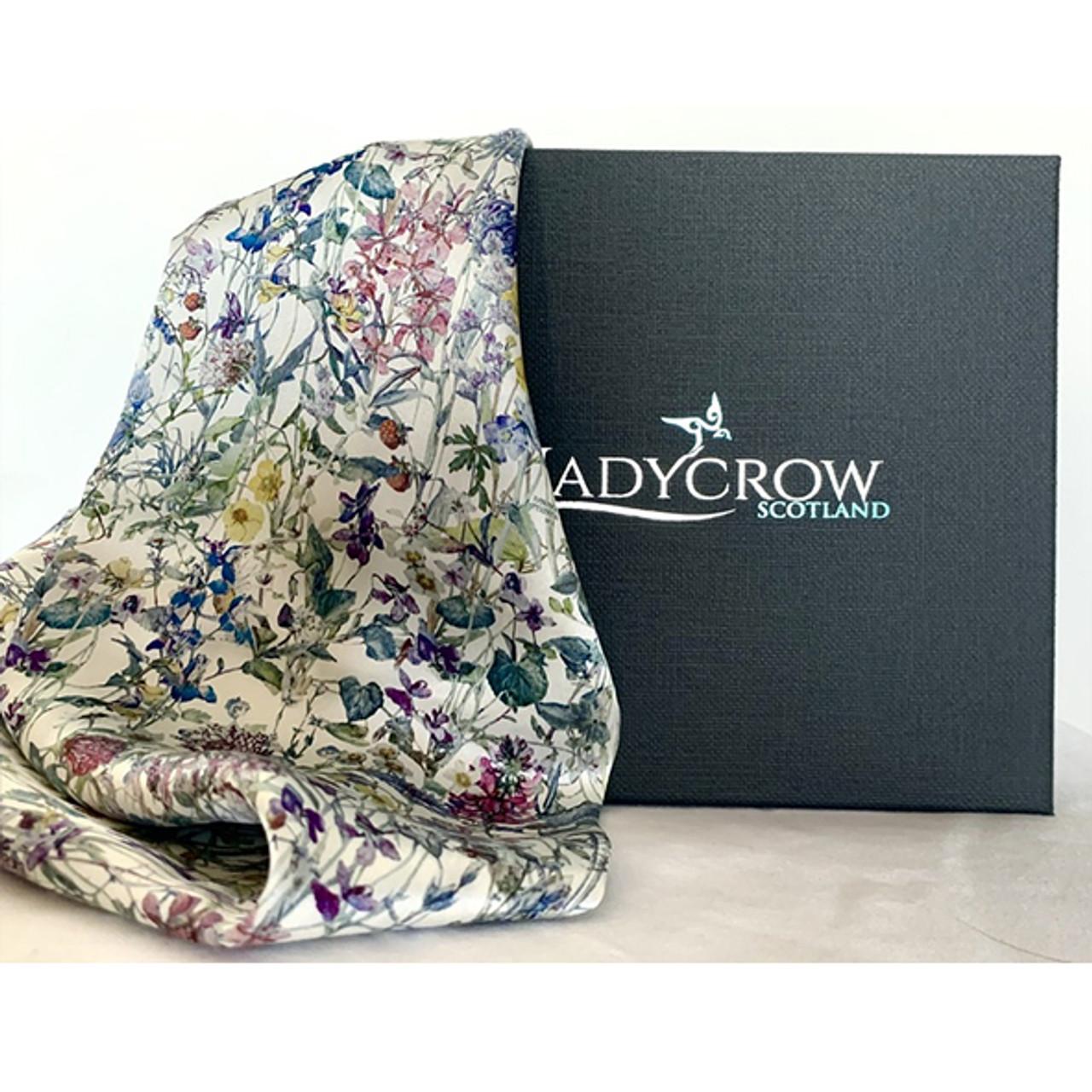 Pink Paisley Design Ladycrow Luxurious Liberty Silk Satin Scarf