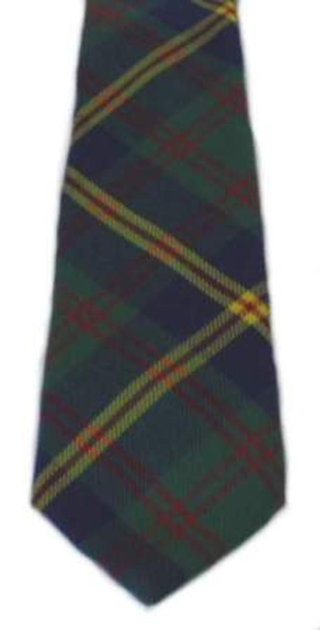 Clan Tie US Leathernecks US Marine Corps Modern Tartan Wool Scottish Necktie