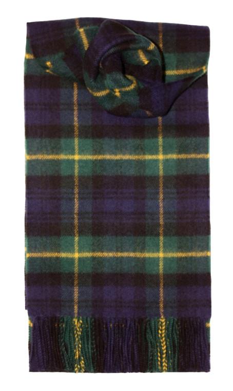 Gordon Clan Modern Tartan 100/% Lambswool Clan Scarf Made in Scotland