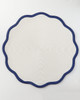 """Deborah Rhodes 16"""" Border Scallop Placemat (Oxford Blue)"""