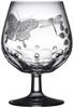 Varga Crystal Springtime Brandy Glass