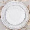 Vietri Incanto White Ruffle Salad Plate