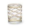 Vietri Elegante Net Double Old Fashioned Glass