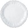 Vietri Incanto White Baroque Round Platter