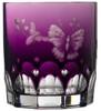 Varga Crystal Springtime Amethyst Double Old Fashioned Glass