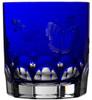 Varga Crystal Springtime Cobalt Double Old Fashioned Glass