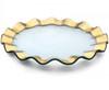 """Annie Glass Ruffle 13"""" Buffet Plate"""