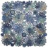 Deborah Rhodes Blue Patchwork Daisy Square Placemat