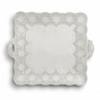 Arte Italica Merletto Antique Square Platter with Handles