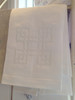 Anali Four Square Linen Guest Towel (White/White)