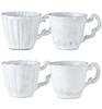 Vietri Incanto White Assorted Mugs