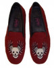 By Paige Needlepoint Shoes Skull with Wings Needlepoint Loafers for Men