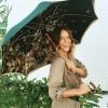 Pasotti Green Umbrella with Leopard Scene Interior