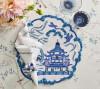 Filament Napkin in White & Navy, Set of 4 by Kim Seybert