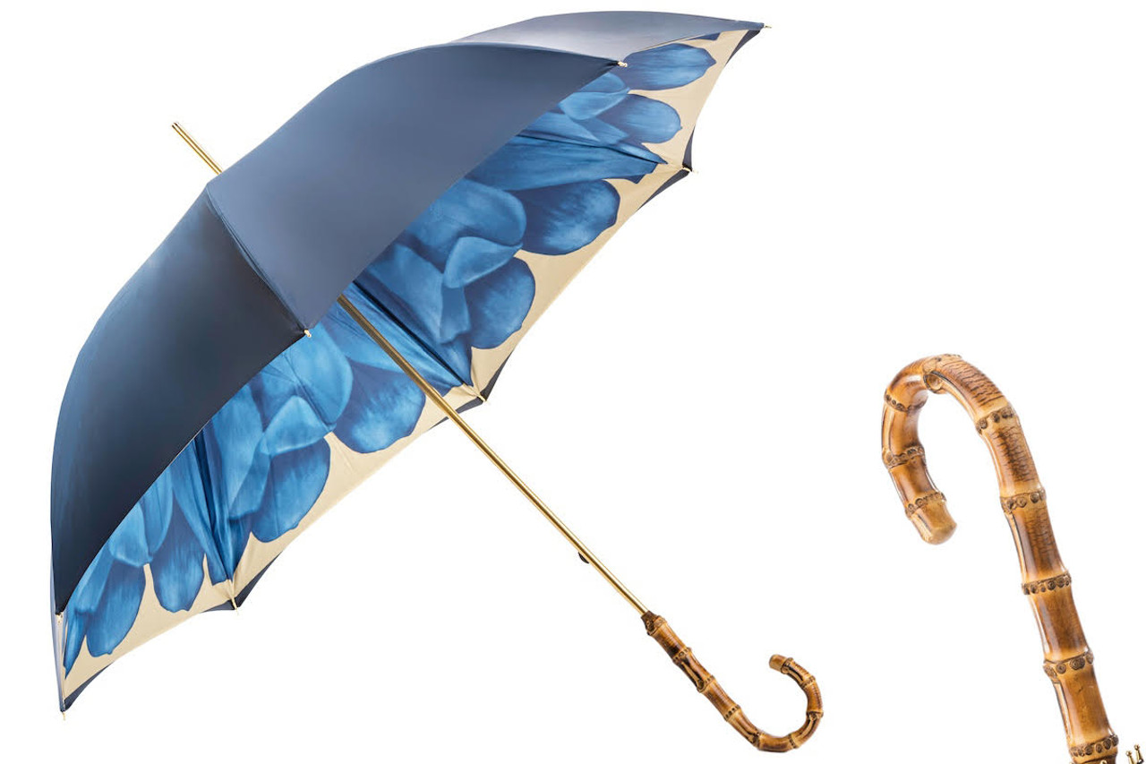 57ee43947a2ab Pasotti - Luxury Blue Dahlia Umbrella