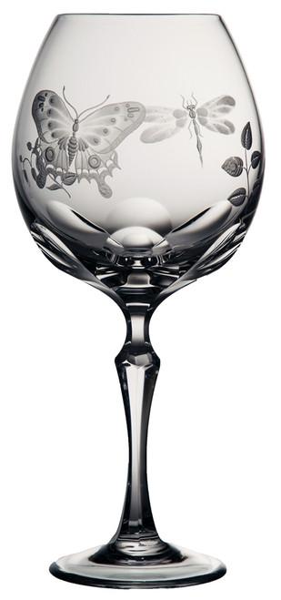 Varga Crystal Springtime Classic Burgundy Glass