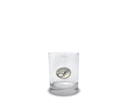 Vagabond House Monogram I Double Old Fashion Glass