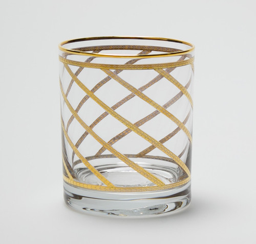 Vietri Elegante Lattice Double Old Fashioned Glass