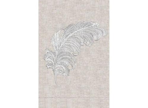 Anali Plumes Linen Guest Towel