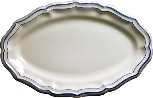 Gien France Filet Bleu Oval Platter