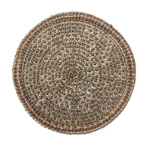 Deborah Rhodes Crochet Abaca Grey Placemat