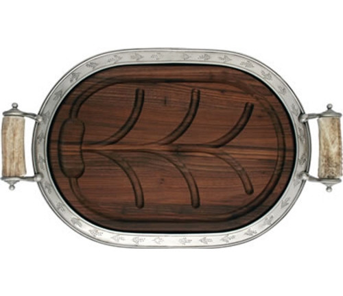 Vagabond House Pewter Leaf Carving Board (Large)