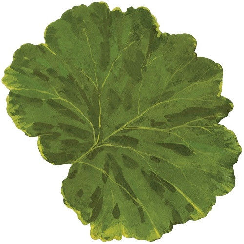 Caspari Leaf Die-Cut Placemat