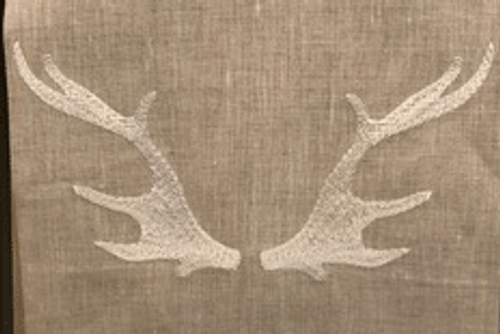 Anali Caribou on Oat Linen Guest Towel