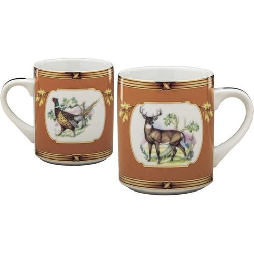 Julie Wear American Wildlife Buck and Pheasant Mug