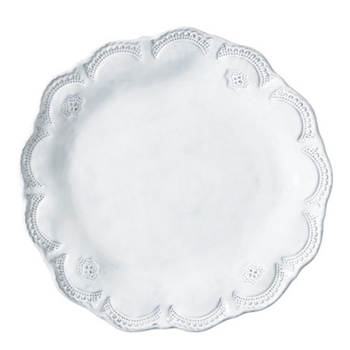 Vietri Incanto White Lace Dinner Plate