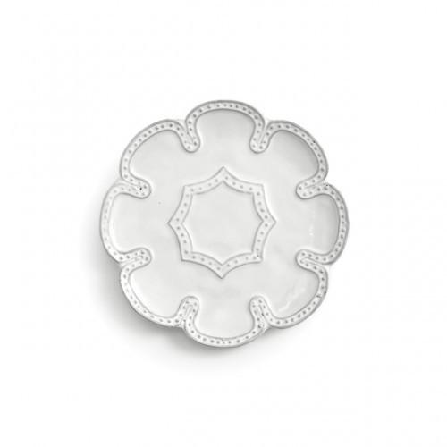Arte Italica Bella Bianca Beaded Canape Plate