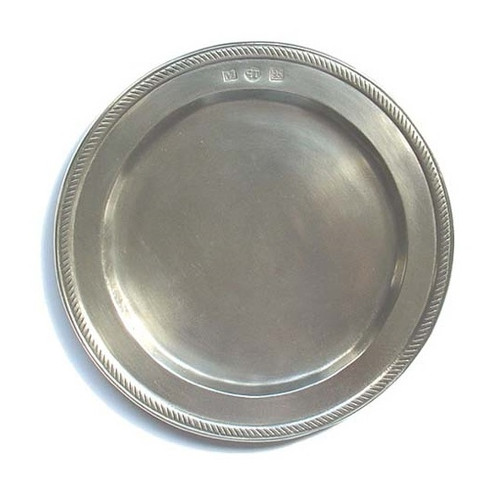 Match Pewter Luisa Bread Plate, all Pewter