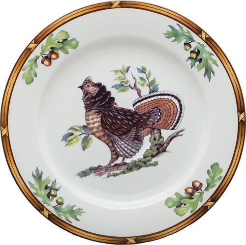 Julie Wear Ruffled Grouse Buffet Plate