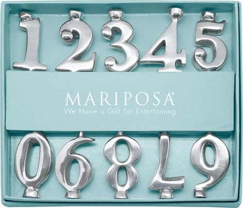 Mariposa Birthday Number Candle Holder Set
