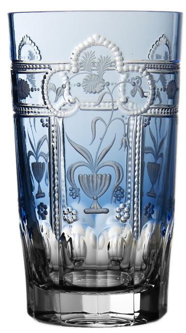 Varga Crystal Imperial Sky Blue Highball Glass