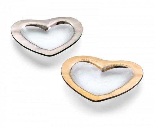 """Annie Glass Heart Bowl (8"""")"""