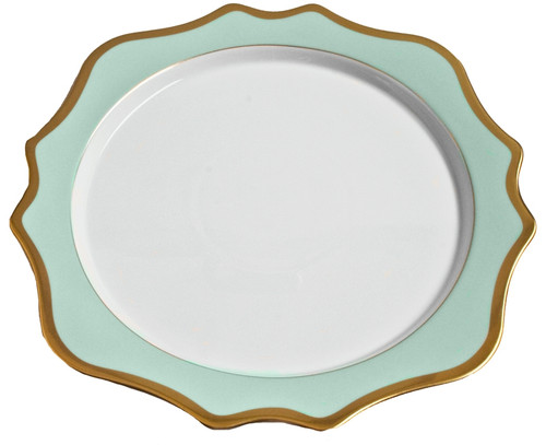 Anna Weatherley Anna's Palette - Aqua Green Charger