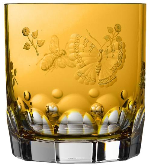 Varga Crystal Springtime Amber Double Old Fashioned Glass