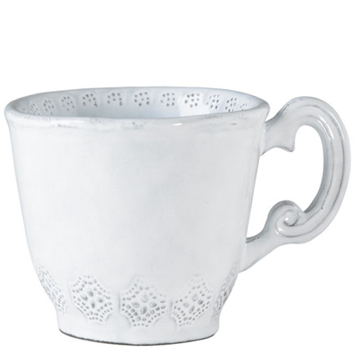 Vietri Incanto White Lace Mug