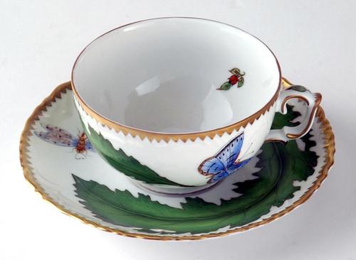 Anna Weatherley Green Leaf Cup & Saucer