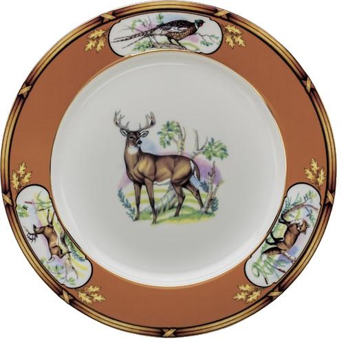 "Julie Wear American Wildlife White Tail Buck Dinner Plate (10 5/8"")"