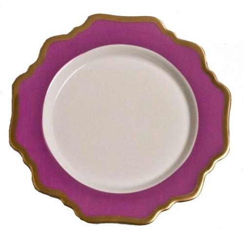 Anna Weatherley Anna's Palette - Purple Orchid Dessert Plate