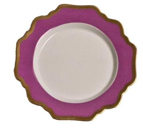 Anna Weatherley Anna's Palette - Purple Orchid Bread and Butter Plate