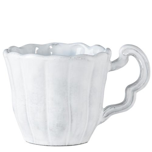 Vietri Incanto White Scallop Mug