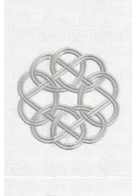 Anali Knot Guest Towel (Silver/White)