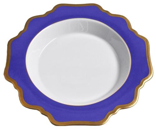 Anna Weatherley Anna's Palette - Indigo Blue Rim Soup Plate
