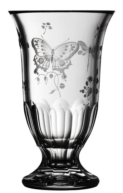 "Varga Crystal Springtime Footed Vase (8"")"