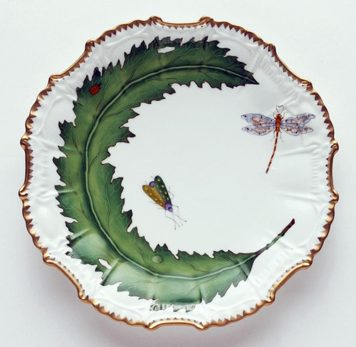 Anna Weatherley Green Leaf Star Plate