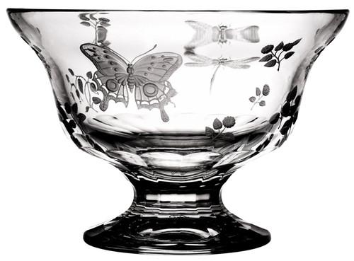 "Varga Crystal Springtime Footed Bowl (8"")"
