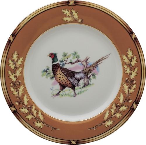 """Julie Wear American Wildlife Pheasant Salad Plate (8"""")"""